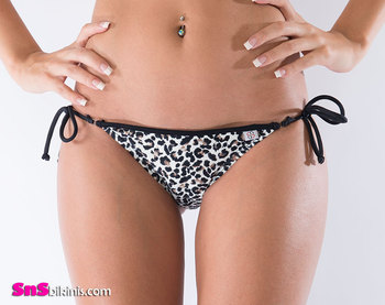LIONESS Animal Print Scrunch Bikini