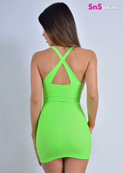 BACK X NEON Mini Dress