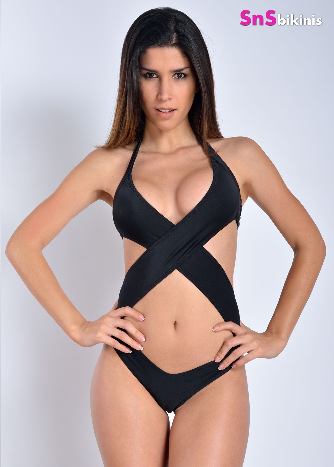 GODDESS Cross Wrap Front Swimwear