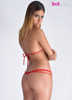 HOT CHILI Mini Bikini Striped Thong