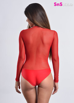 TULIP Sexy Long-sleeves Mesh Bodysuit
