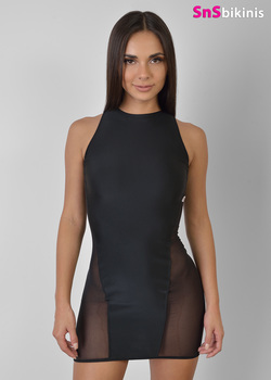 ONIX New Sexy Sheer Mesh Mini Dress