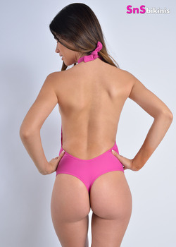 QUEEN Seductive Halter Neck Thong Swimsuit