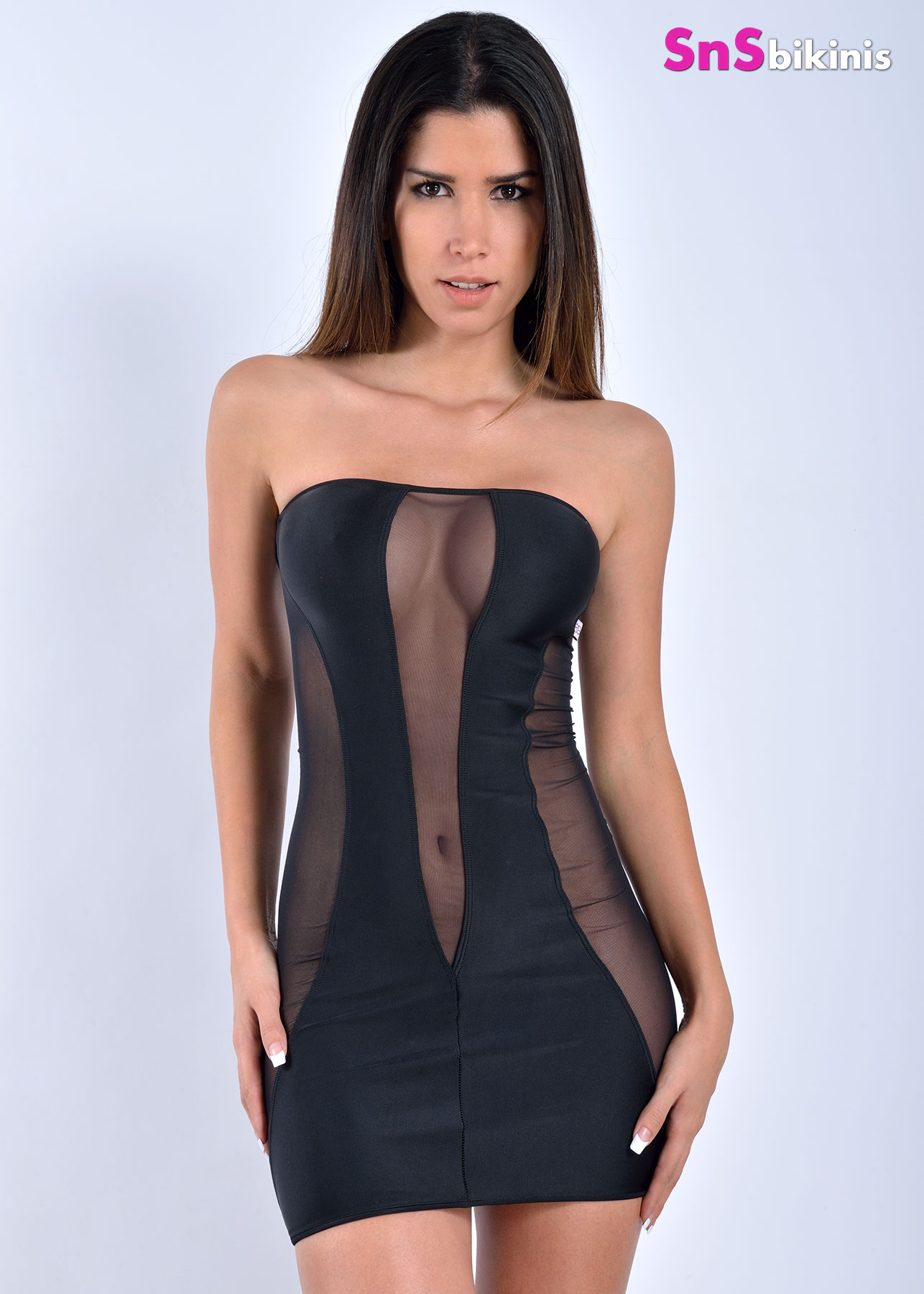 Scarlett Sexy Sheer Mini Dress Vncnet002a 79 00