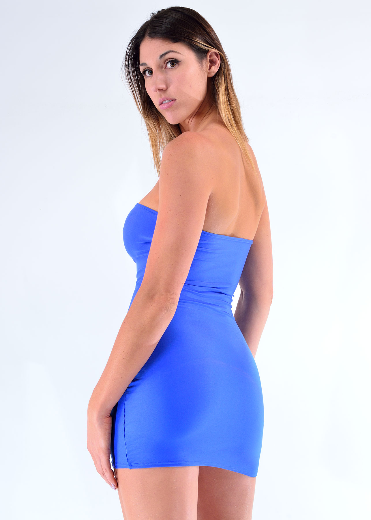 COSMOPOLITAN Strap Mini Dress [StrapLess Dress] - $79.00