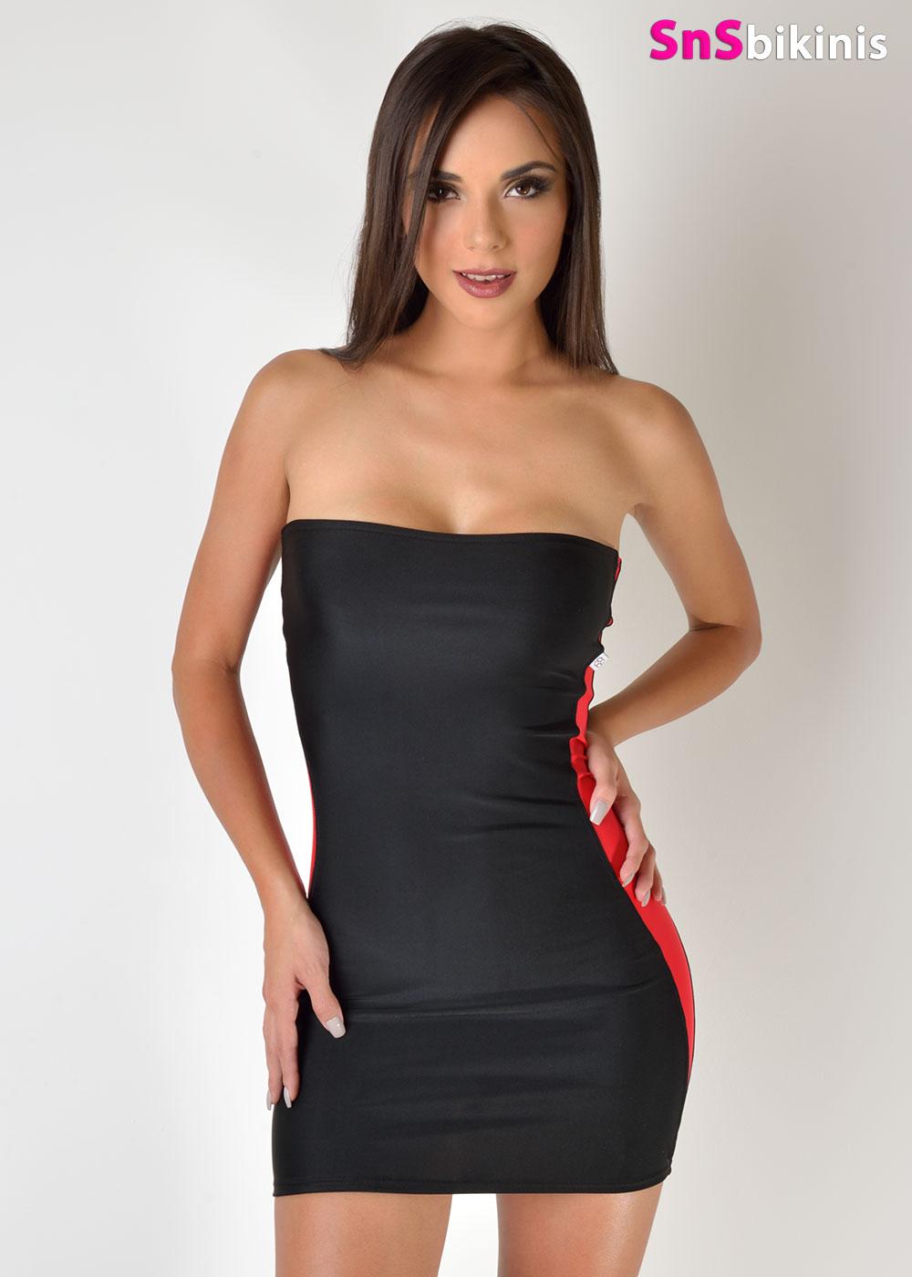 EMMA Sexy Tight Mini Dress [STRPDRSHERCENT005AUTO] - $78