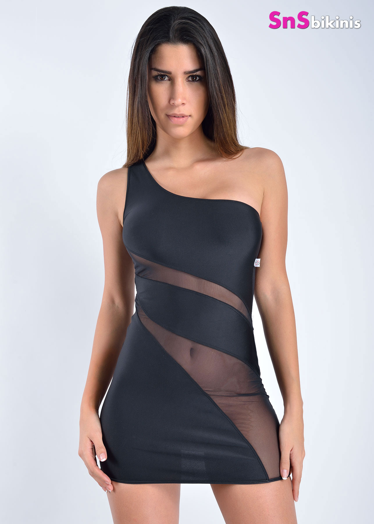 HEAVEN Seductive Sheer Translucent Mini Dress