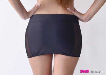 LADY Sexy Mini Sheer Skirt