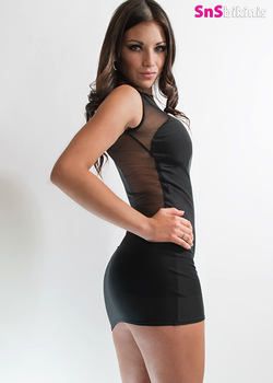 PRINCESS Sexy Sheer Cocktail Night Dress