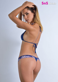 SEDUCTION Sexy Blue Flower Lace Lingerie