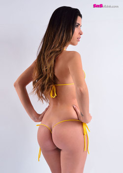 THUNDER Hot Tie Sides and Thong Micro Bikini