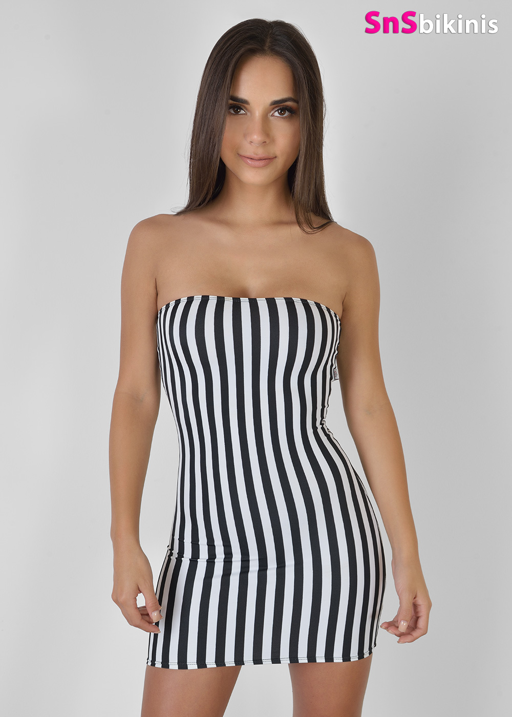VIXEN Sexy Striped Mini Dress